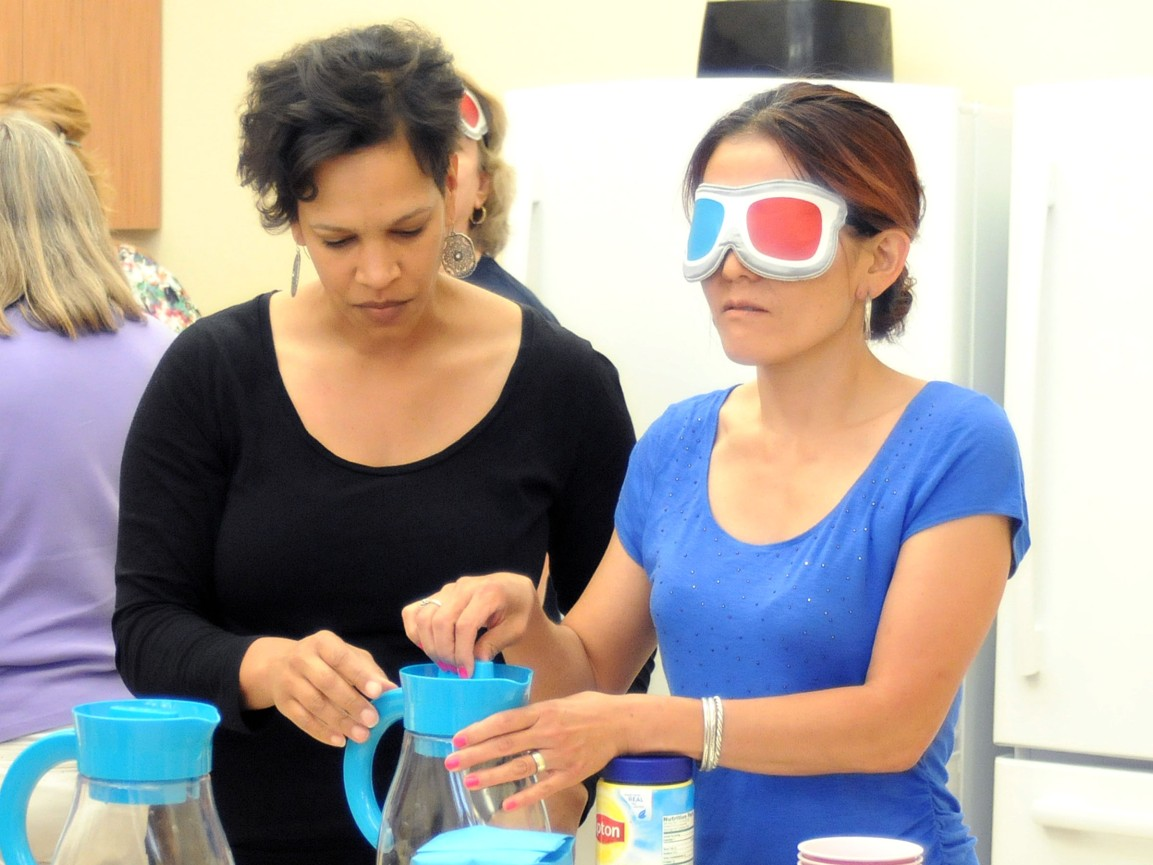 Adult blindness awareness training