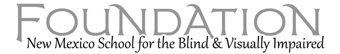 New Mexico School for the Blind and Visually Impiared Foundation Logo